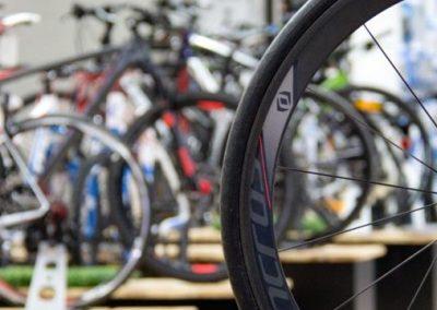 Nahaufnahme eines Scott Fahrrads