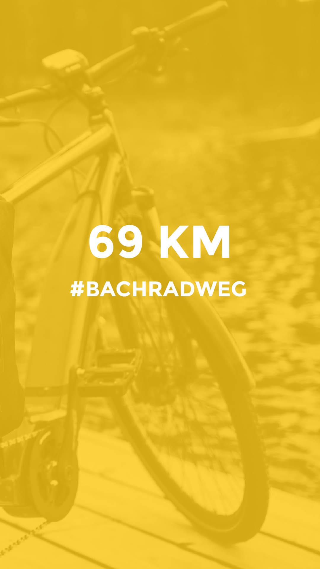 69 km auf dem Bach Radweg durchgeführt vom Werra Bikes