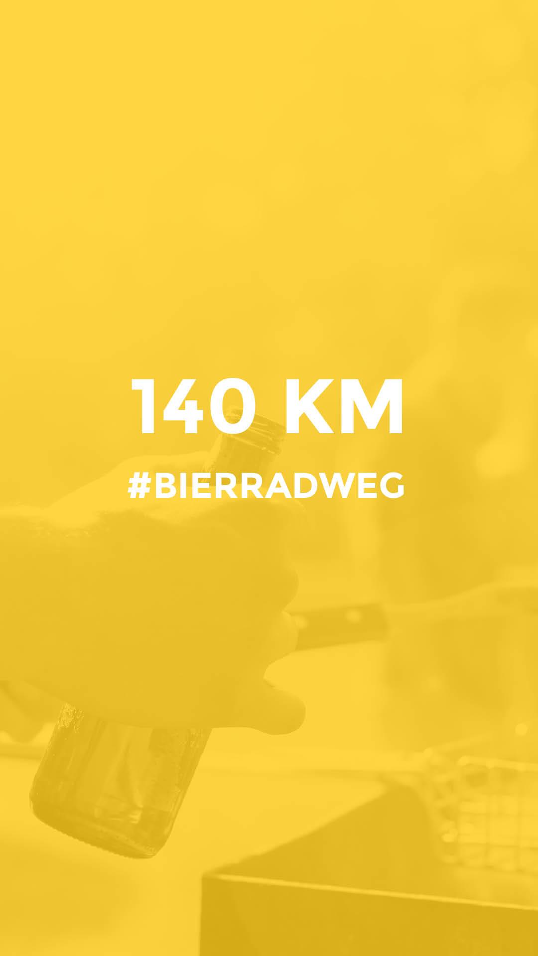 140 km durch Unterfranken auf dem Bierradweg durchgeführt vom Werra Bikes