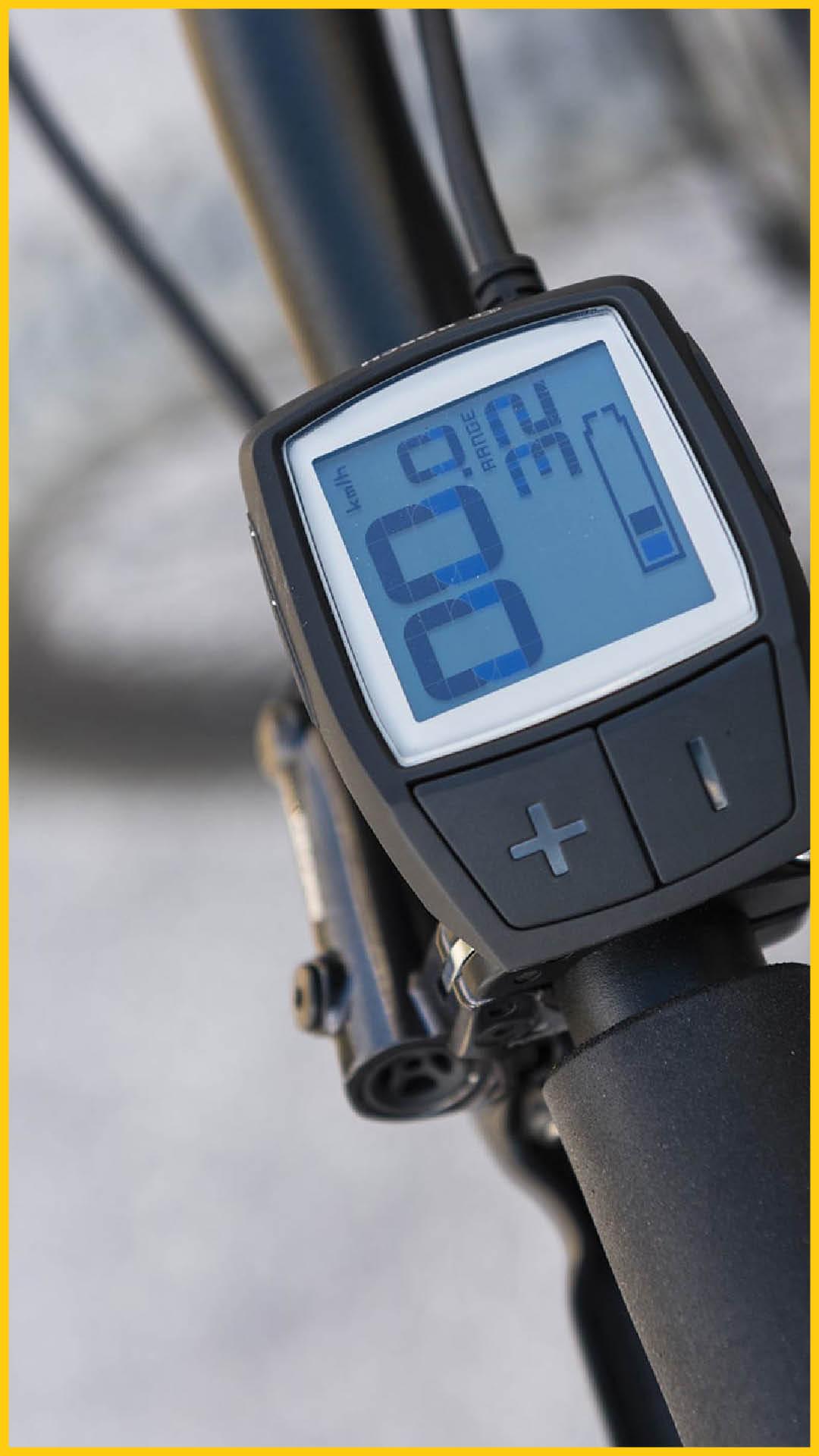 Bosch Purion E-Bike Display am Fahrradlenker montiert