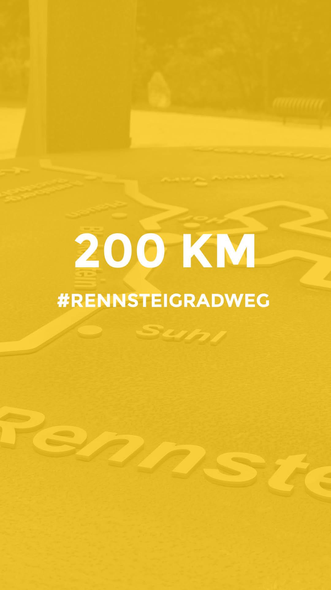 200 km auf dem Rennsteig Radweg durchgeführt vom Werra Bikes