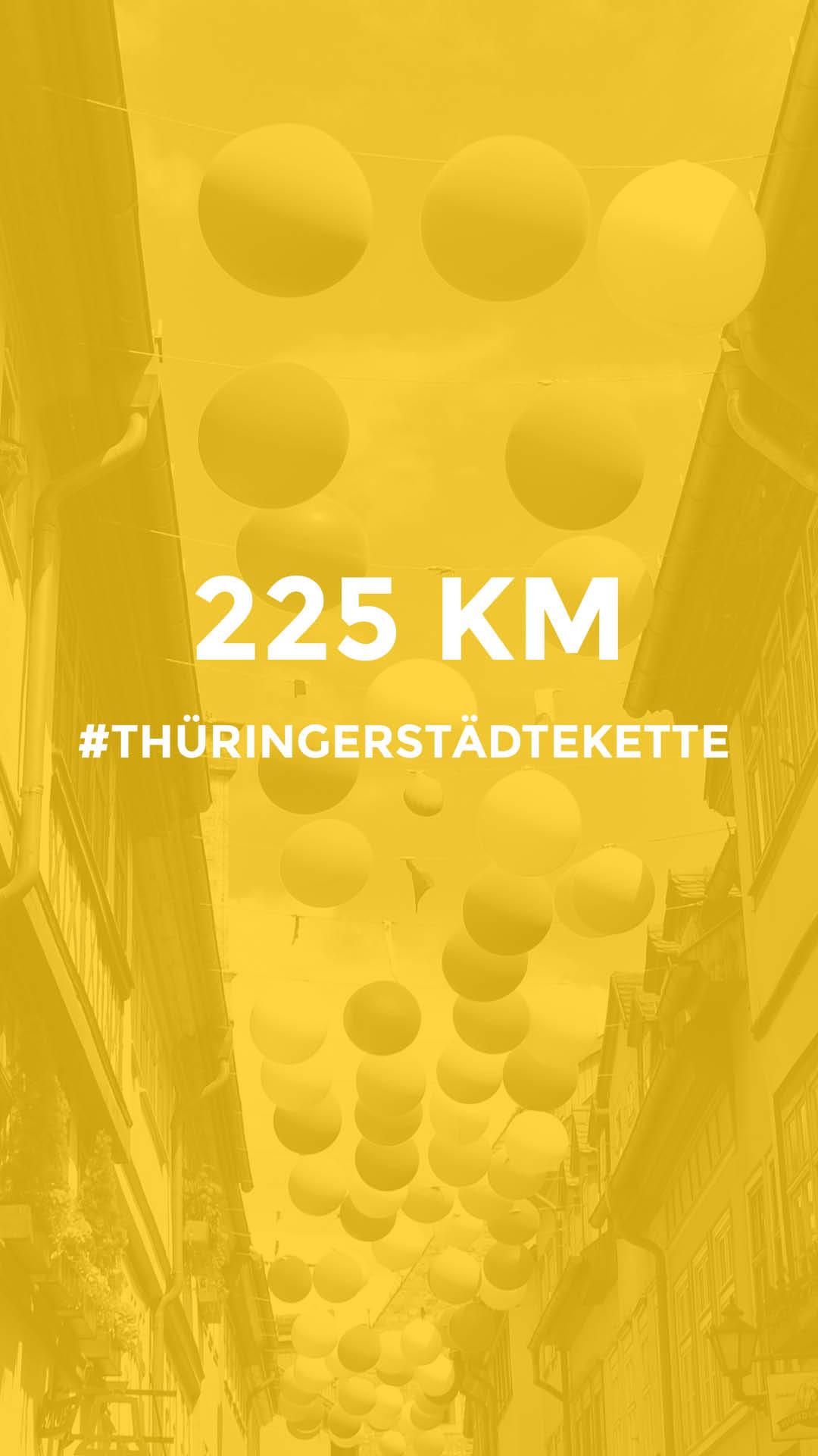 225 km auf dem Radweg Thüringer Städtekette durchgeführt vom Werra Bikes
