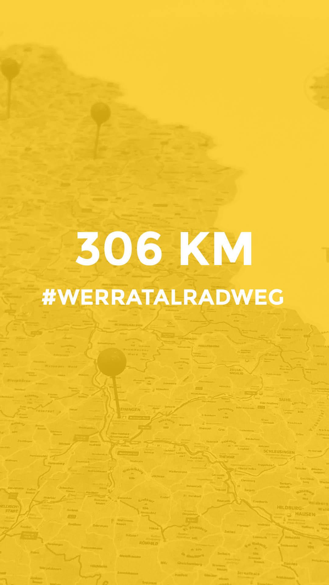 306 km auf dem Werratal Radweg durchgeführt vom Werra Bikes