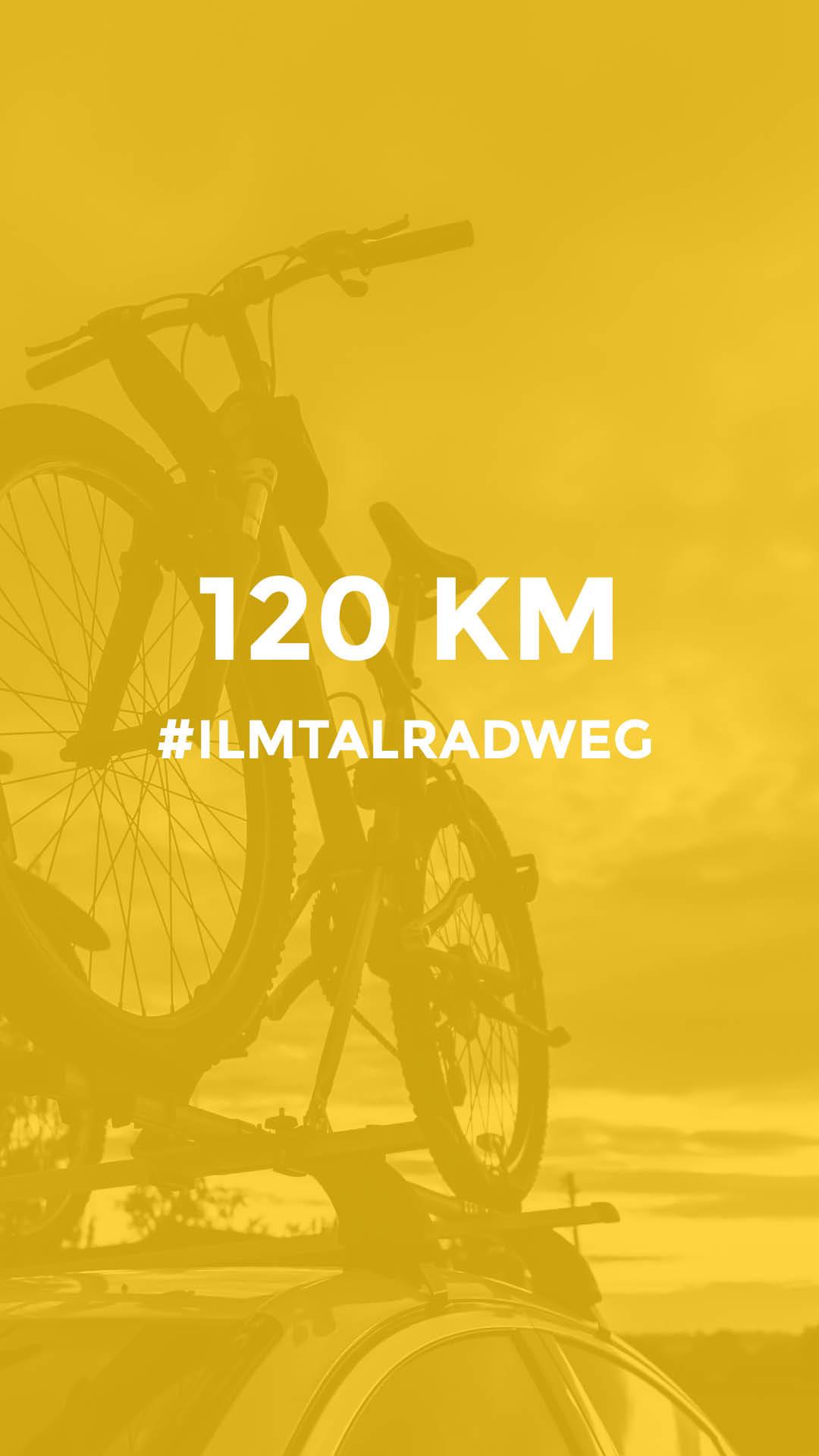 120 km auf dem Ilmtalradweg durchgeführt vom Werra Bikes